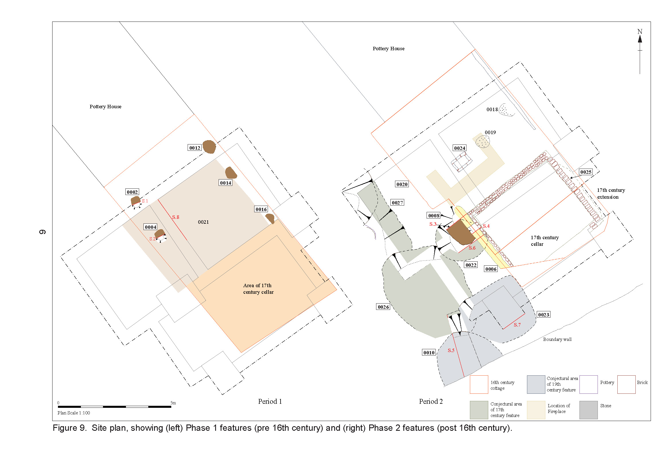 Report site plan from historic building recording at Wattisfield, Suffolk