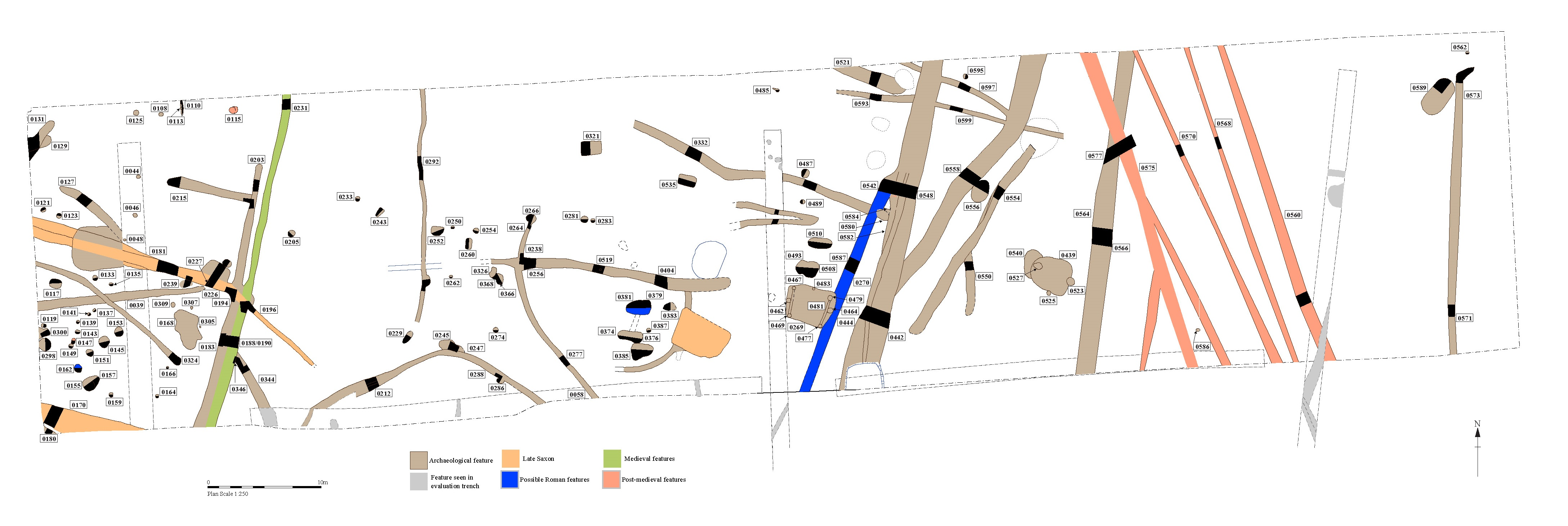 Plan of excavations in 2015 at Culford School, Suffolk