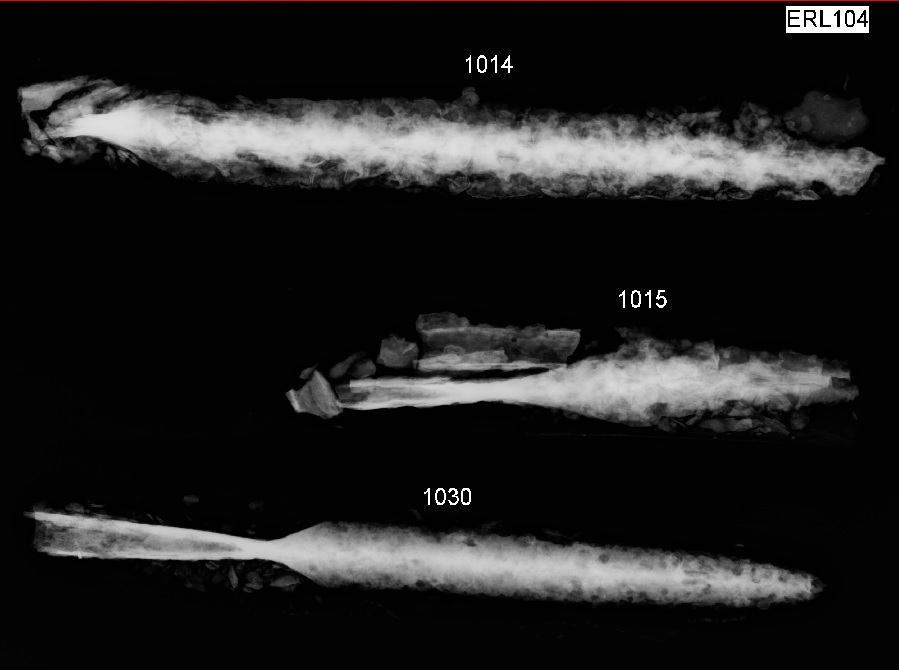 Anglo-Saxon spear X-rays from the RAF Lakenheath cemeteries