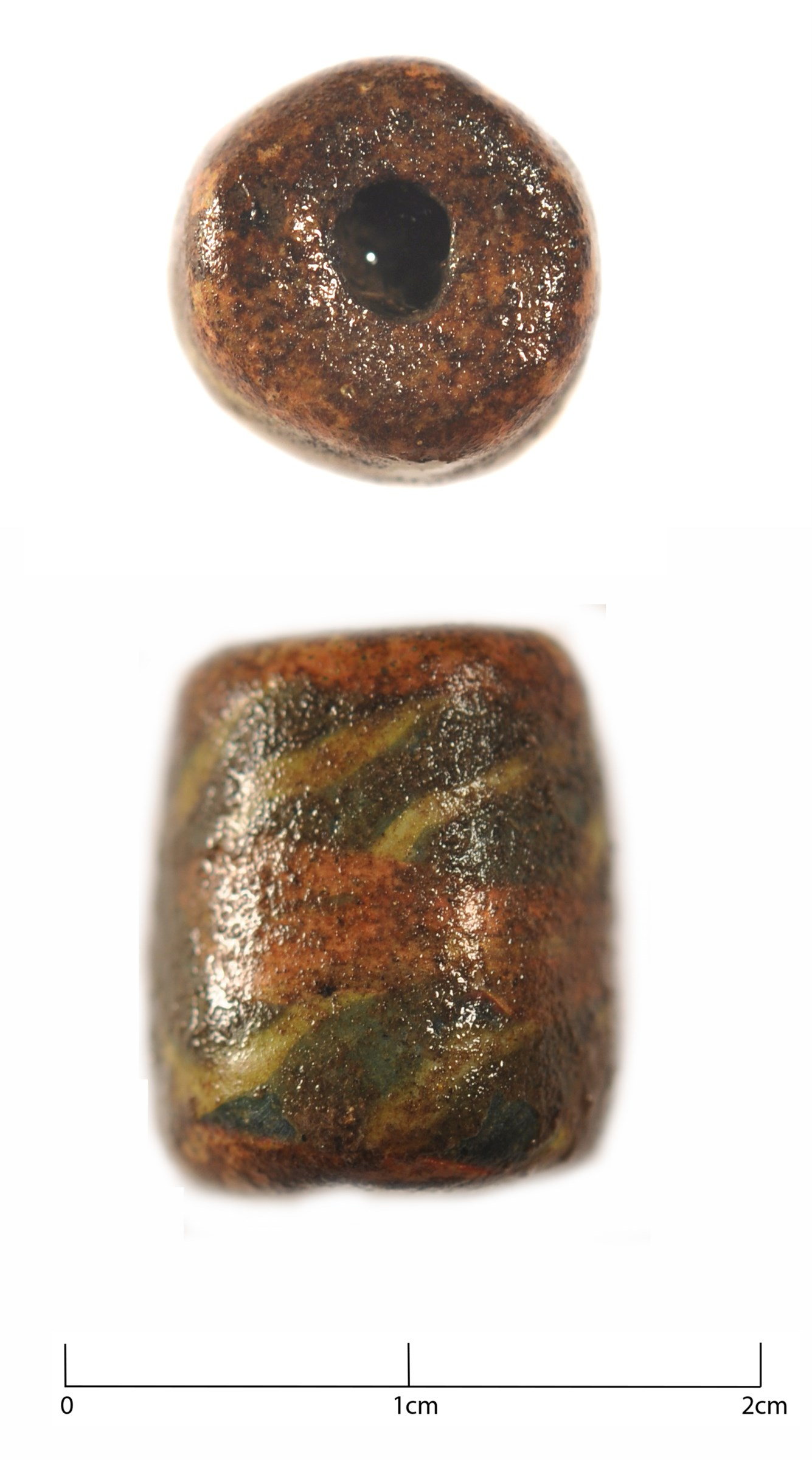 Anglo-Saxon glass bead from the excavations at Kentford