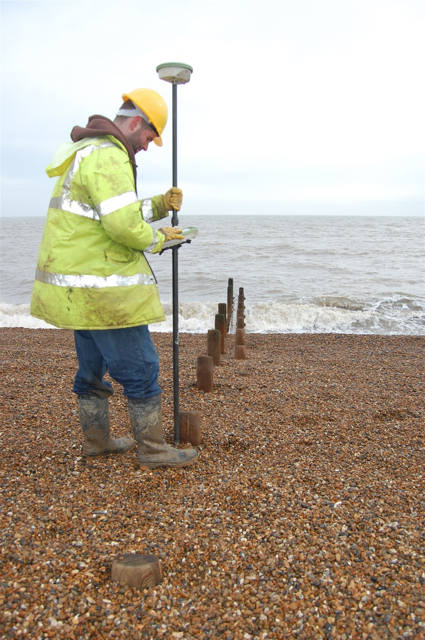 Surveying at Bawdsey, Suffolk