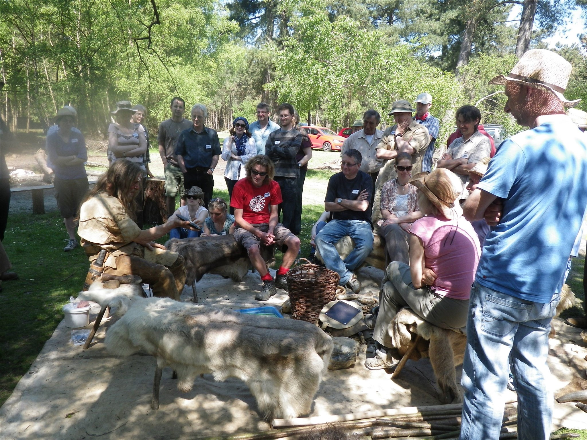 Flint knapping demonstration at the Hand on Heritage Centre