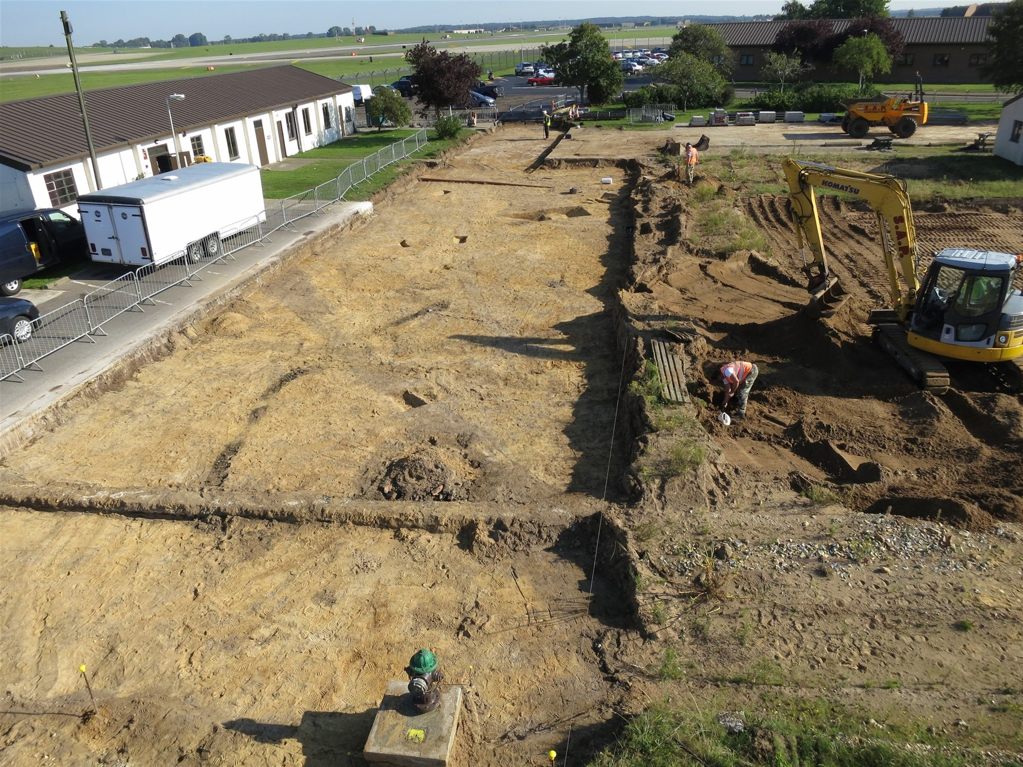 Latest excavation area at RAF Lakenheath