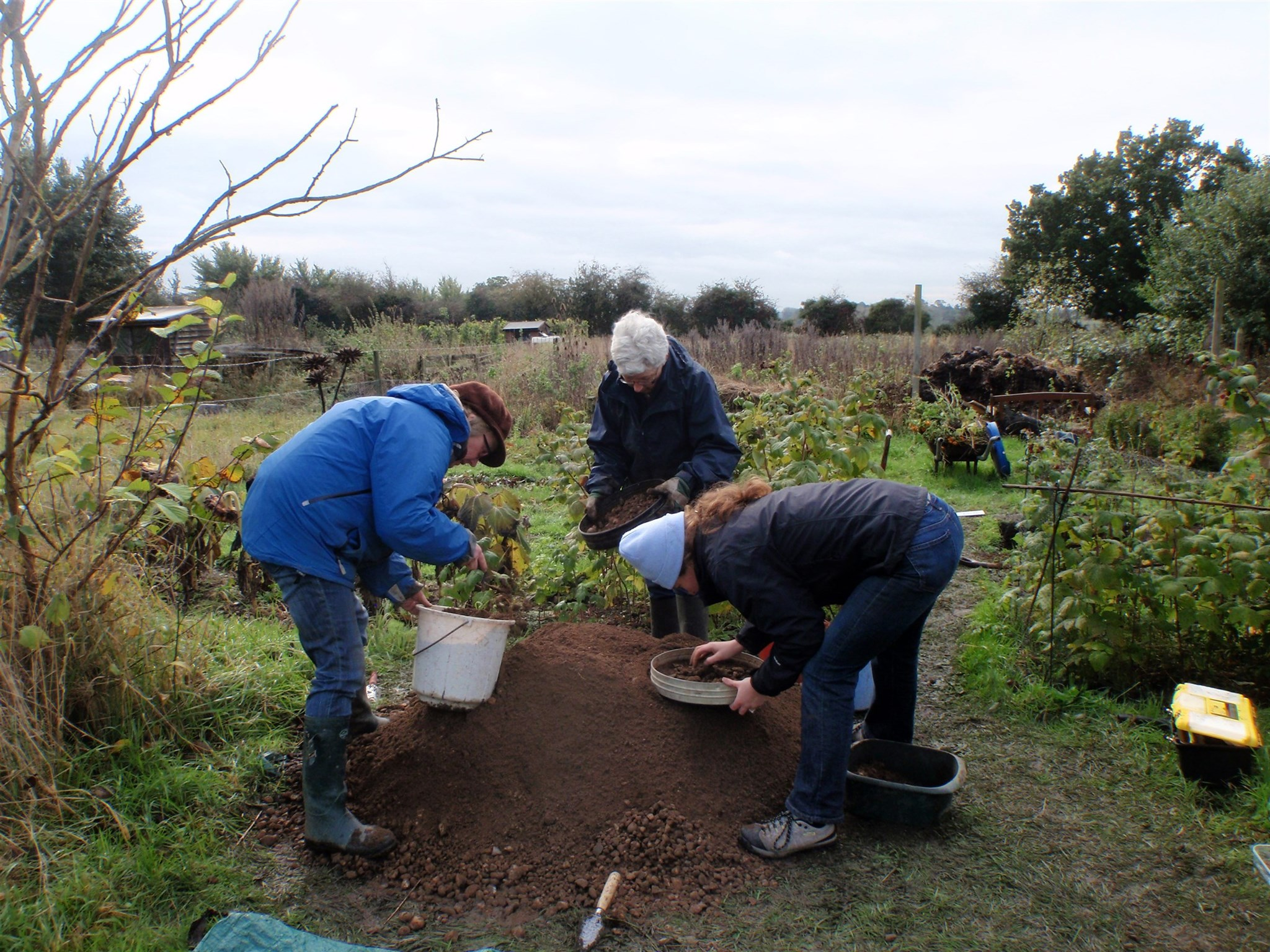 Volunteers digging a test pit at Stoke by Nayland
