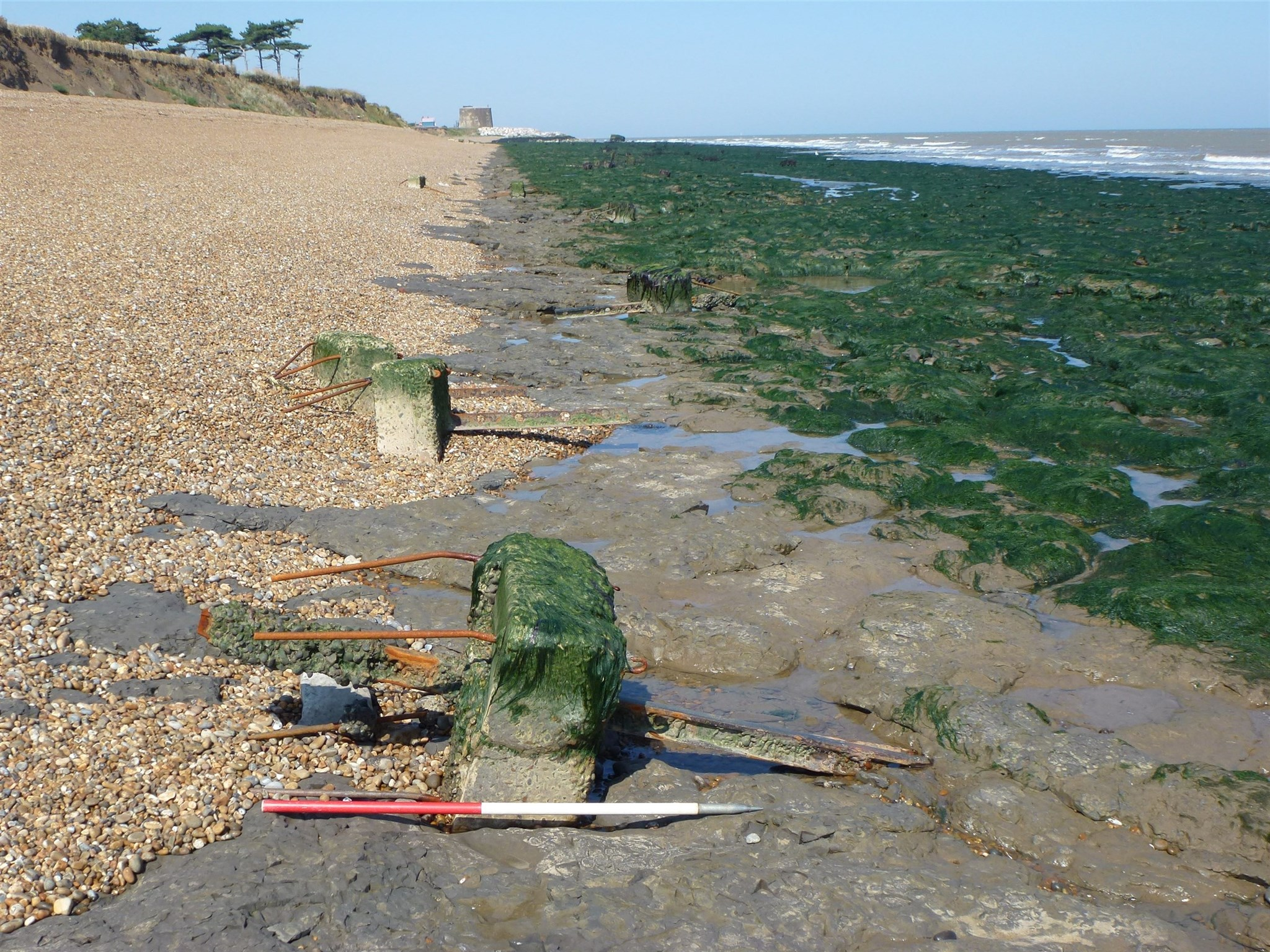 Remnants of WWII defences at Bawdsey, Suffolk