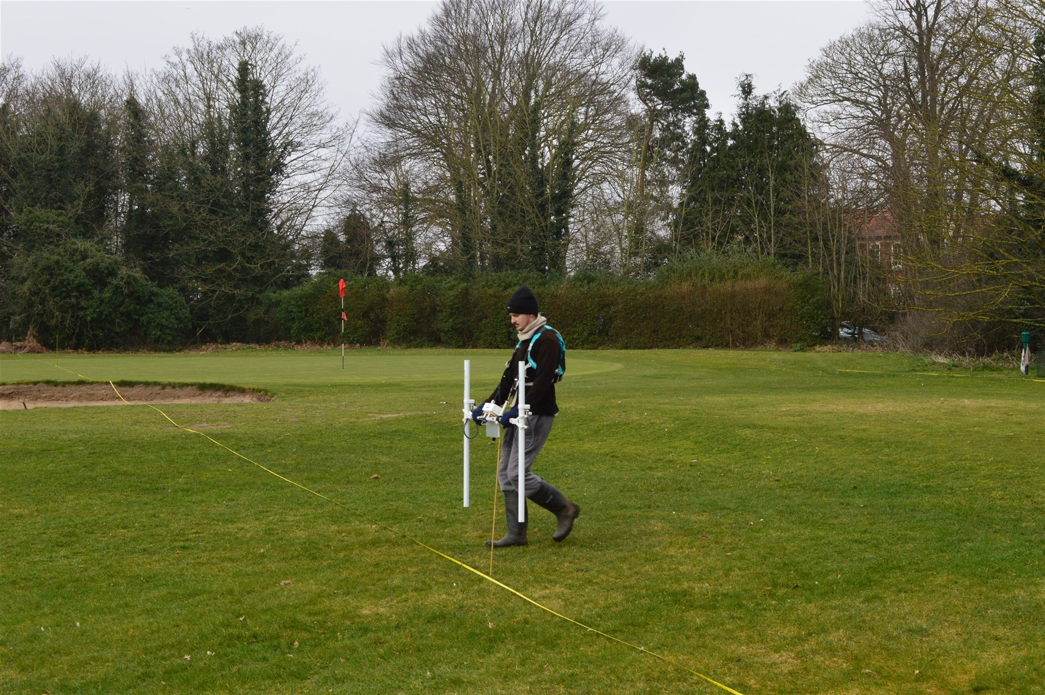 Geophysical magnetometer survey of a golf course, Norfolk