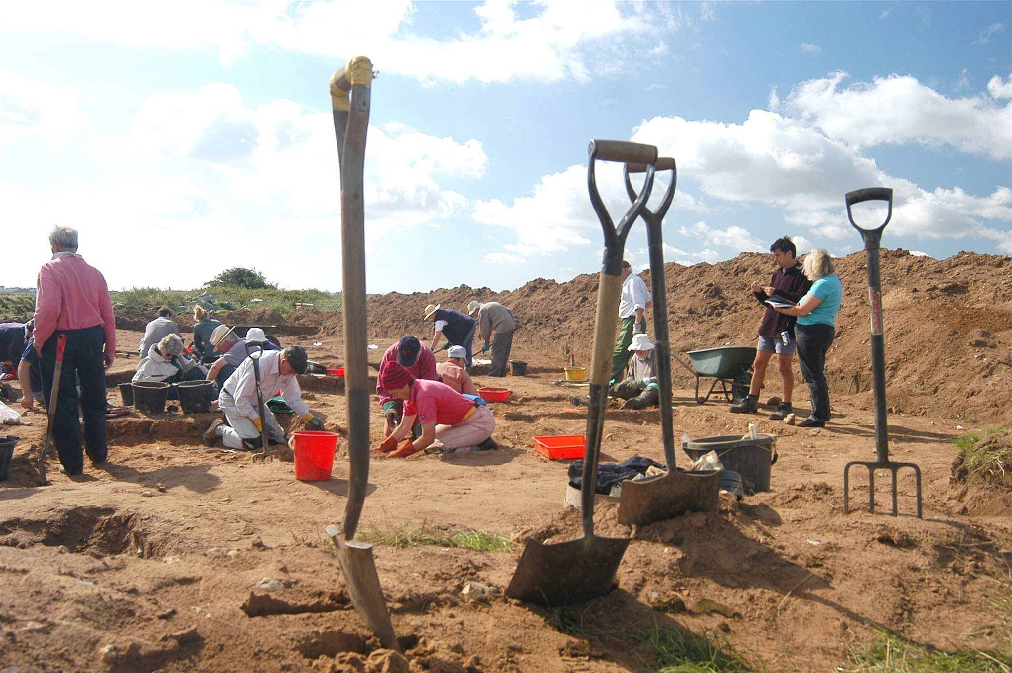 Community excavation at Barbers Point, Aldeburgh, Suffolk