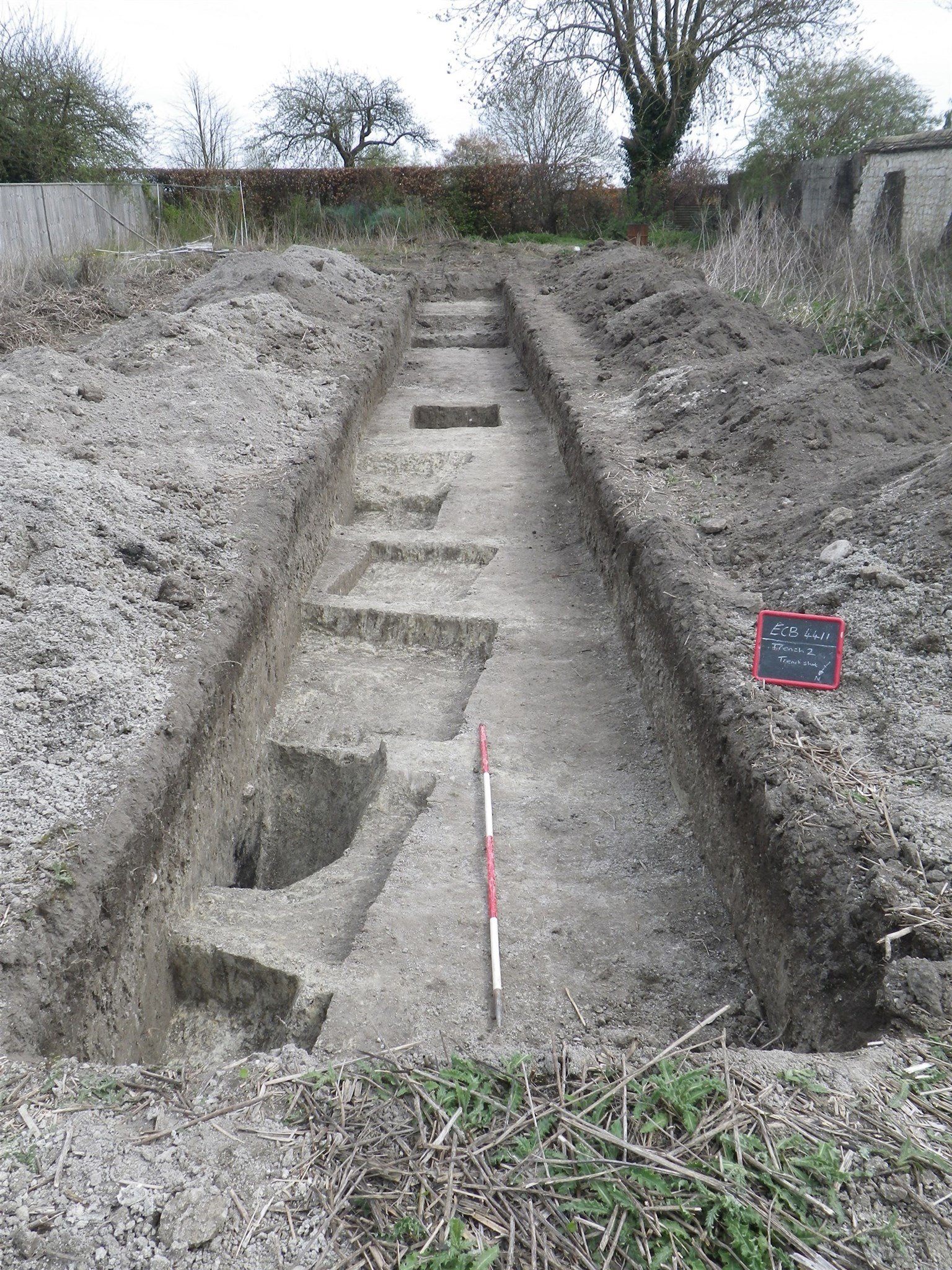 Excavation Trench 2 at Swaffham Bulbeck