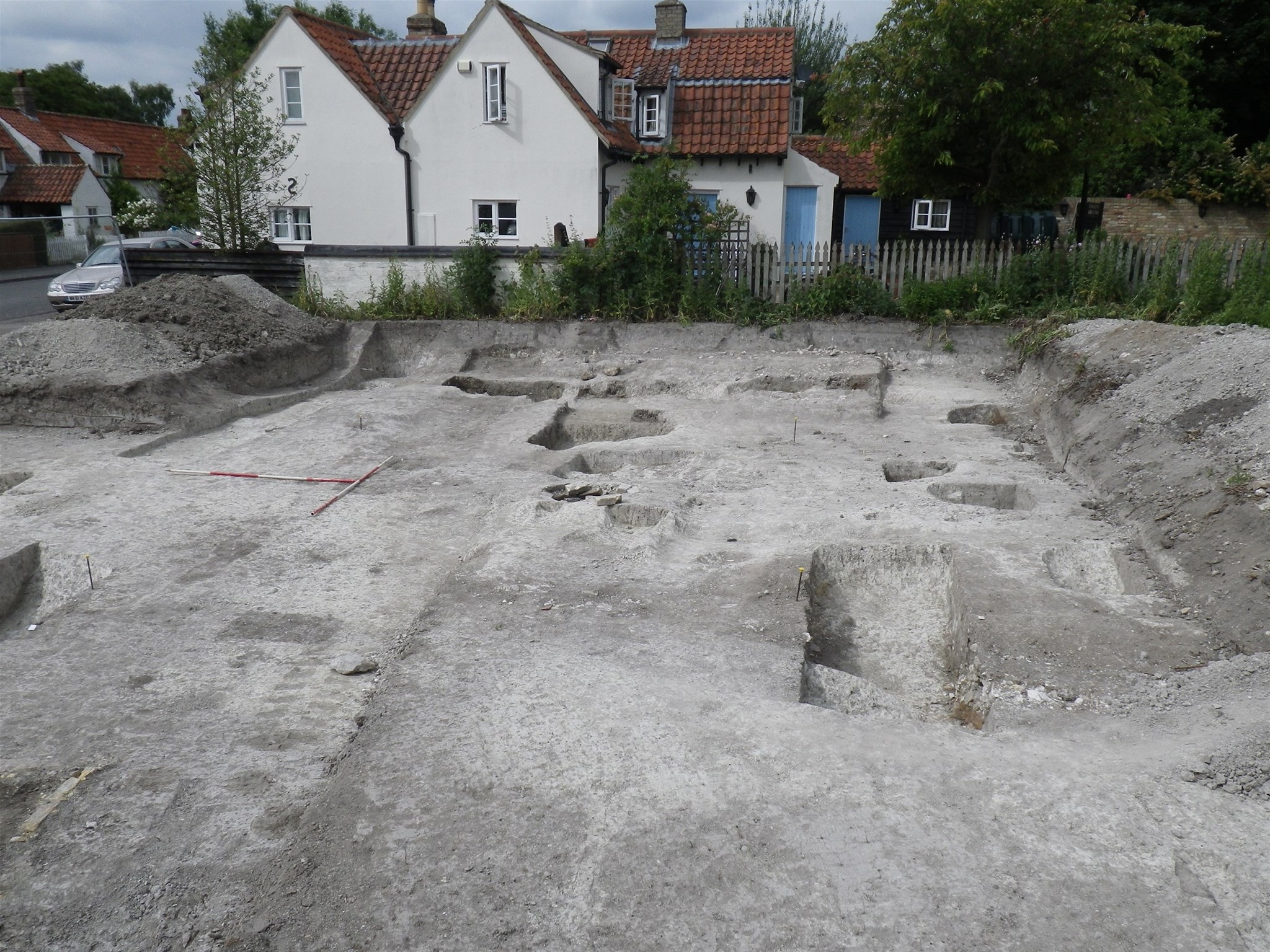 Excavation site at Swaffham Bulbeck