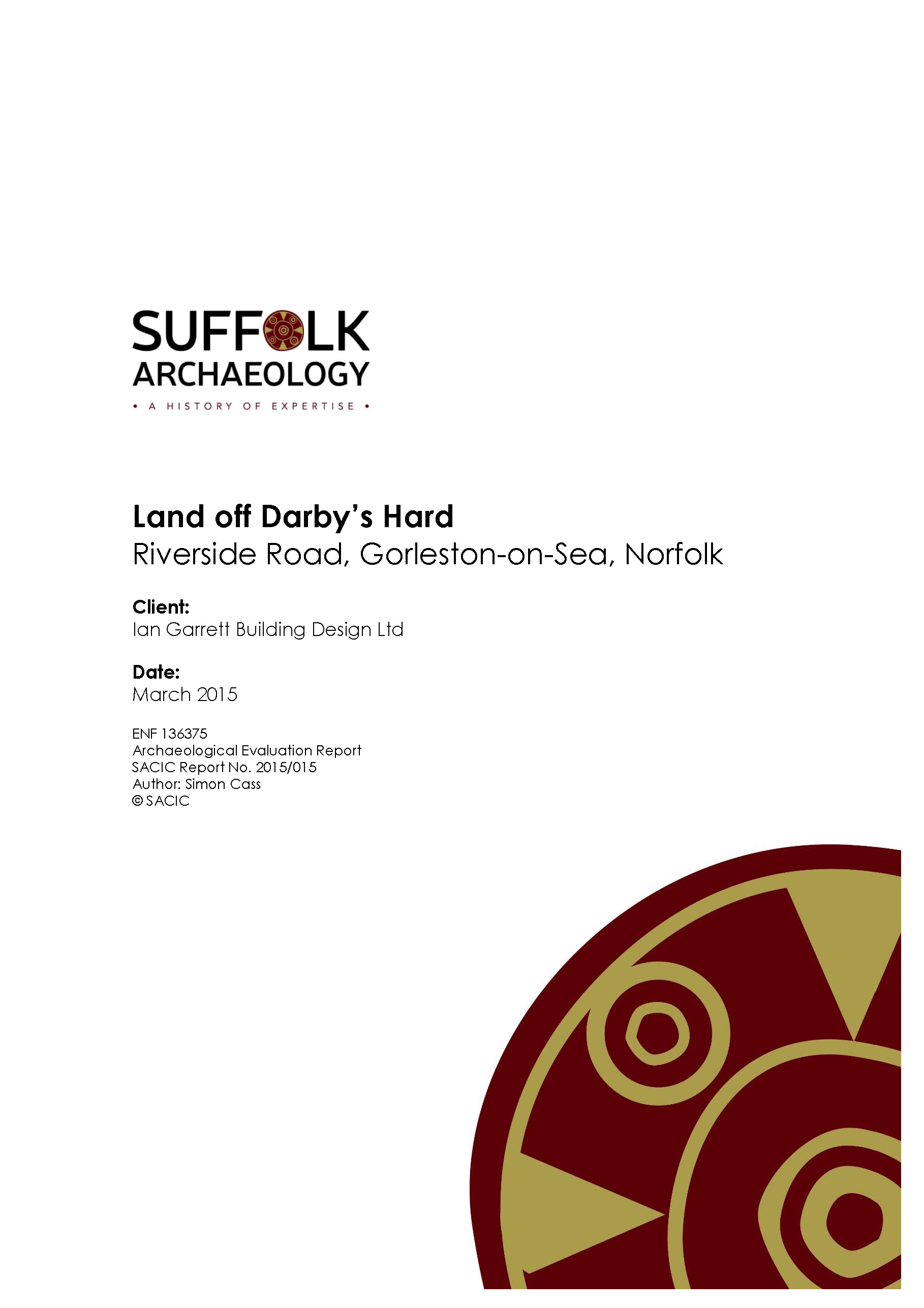 A Suffolk Archaeology report cover