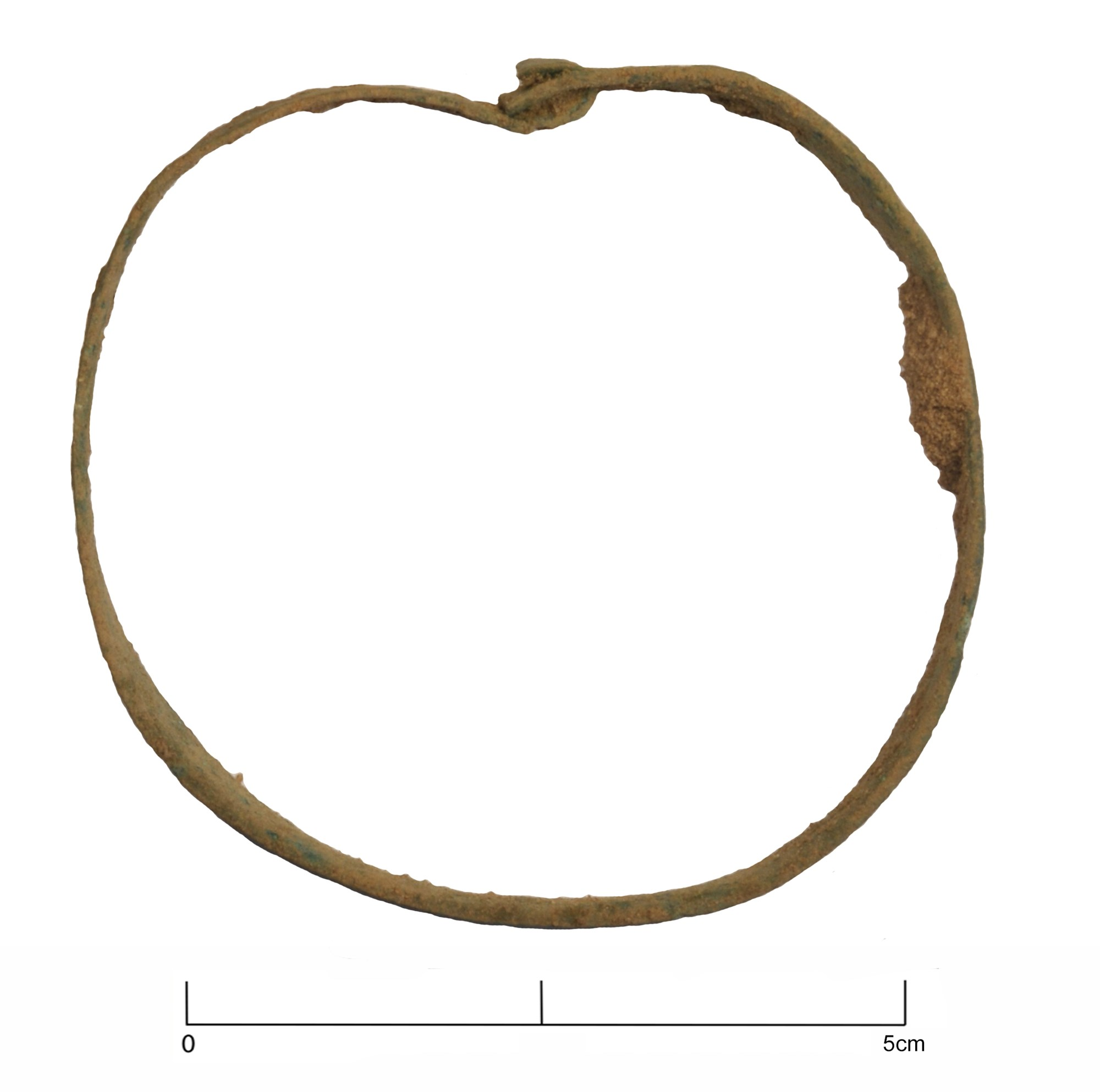 A late Roman copper alloy bracelet from Brightwell, Suffolk