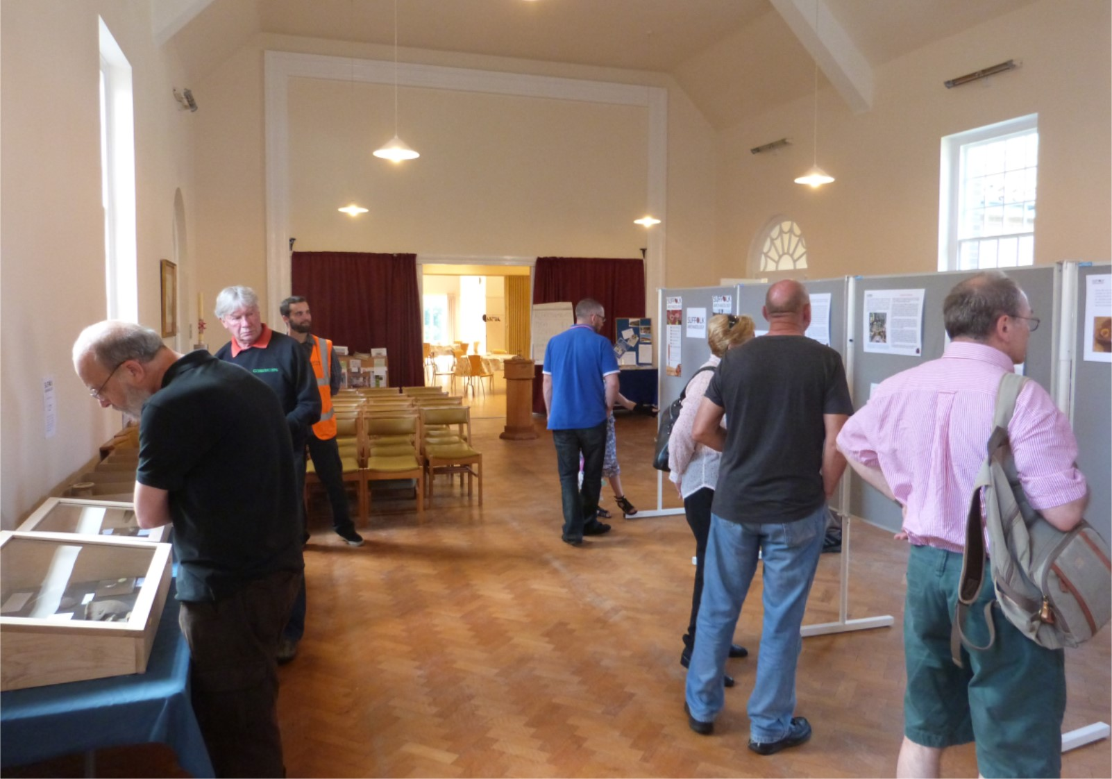 Visitors to the display at St Georges Church, Bury St Edmunds