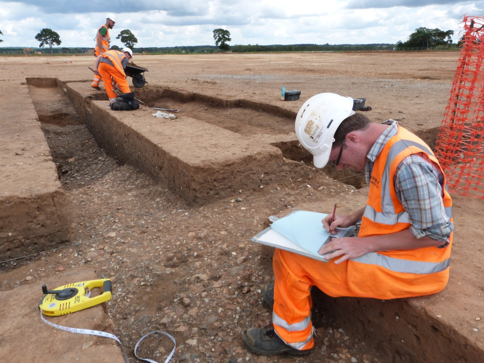 Excavating and recording a possible 'working hollow' at Marham Park