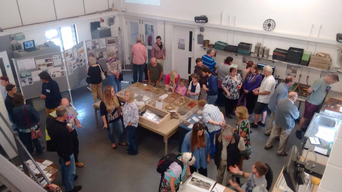 Visitors to the Suffolk Archaeology open day