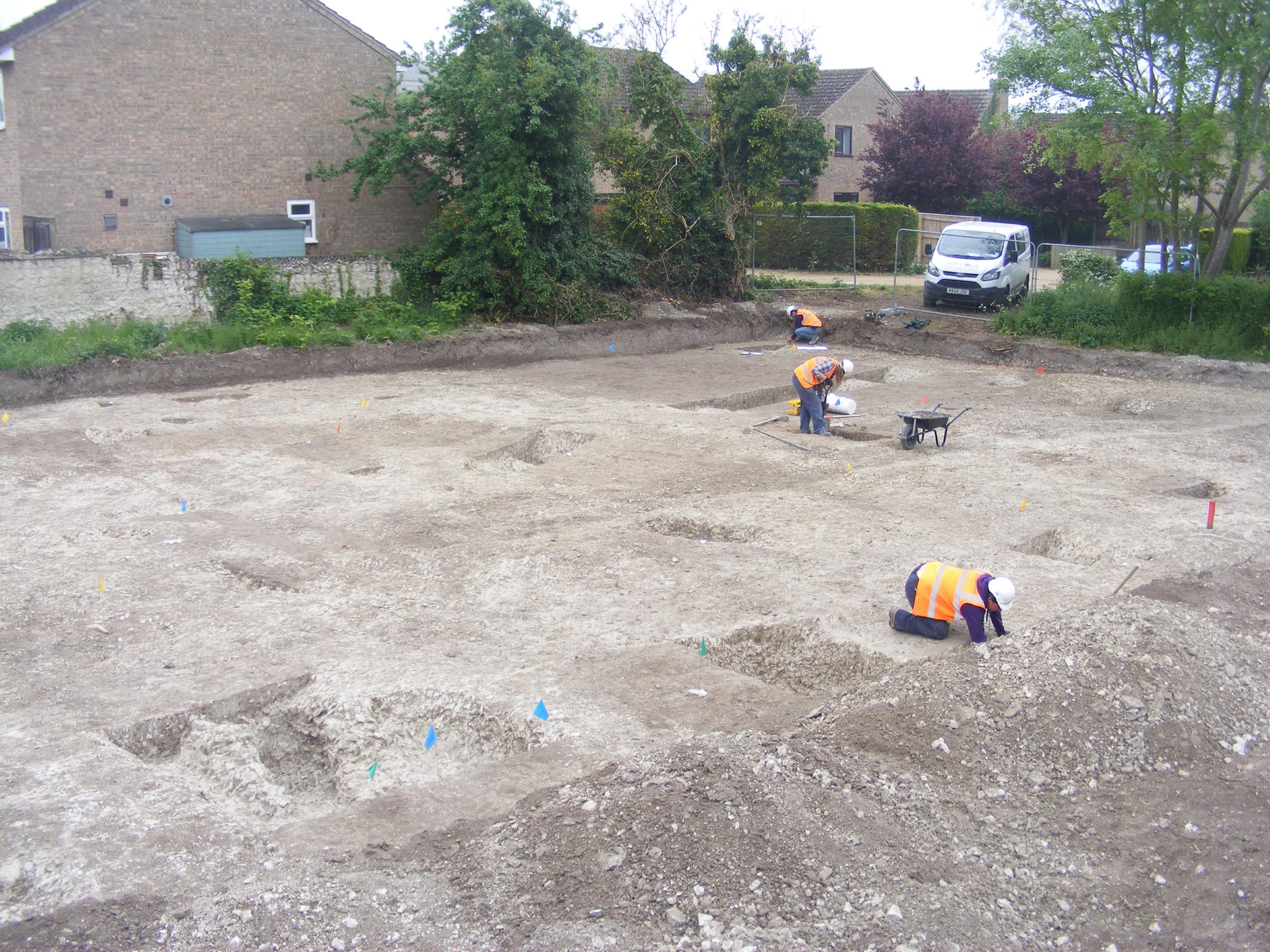 The excavation at Isleham, Cambridgeshire