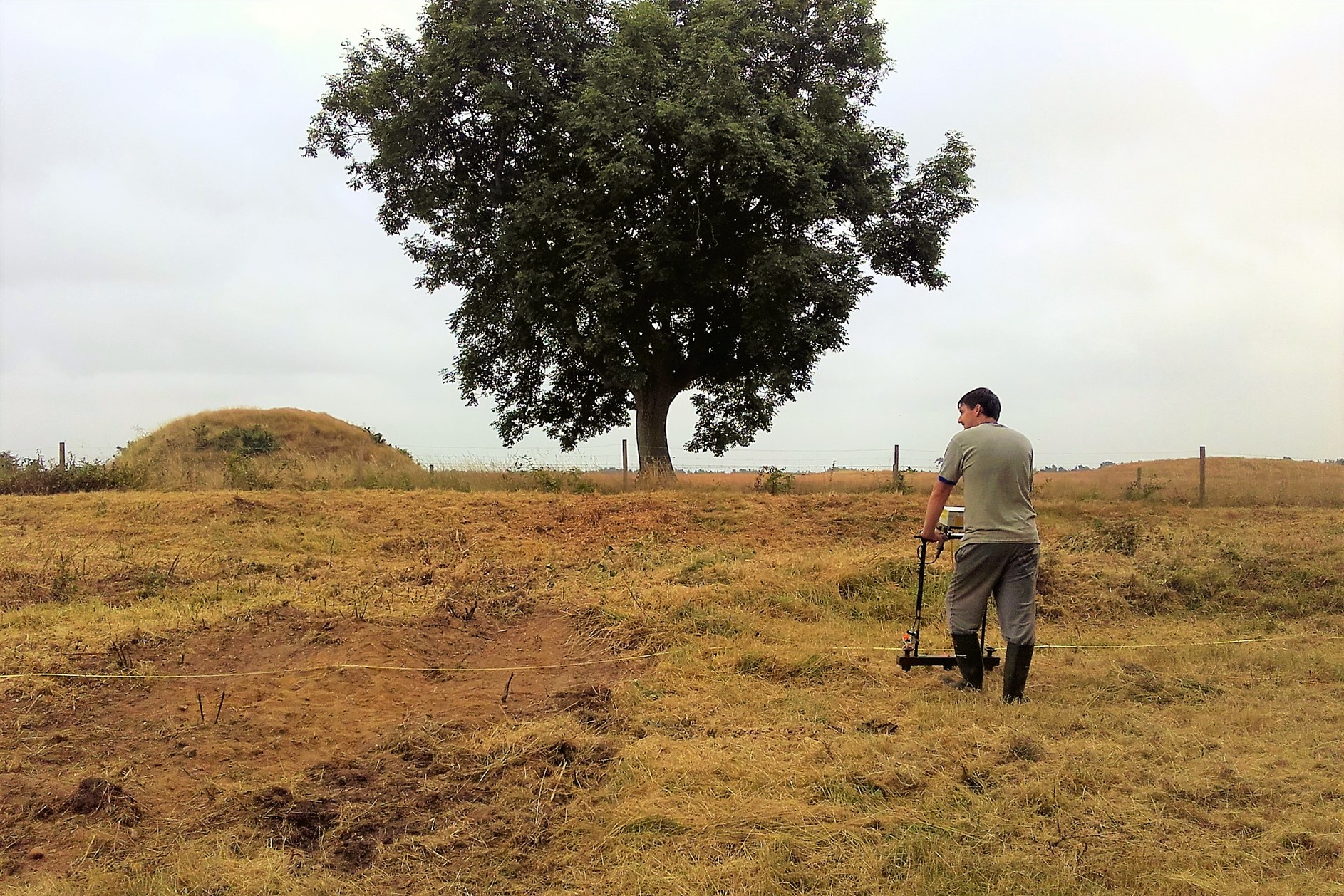 Fluxgate gradiometer survey at Sutton Hoo, Suffolk