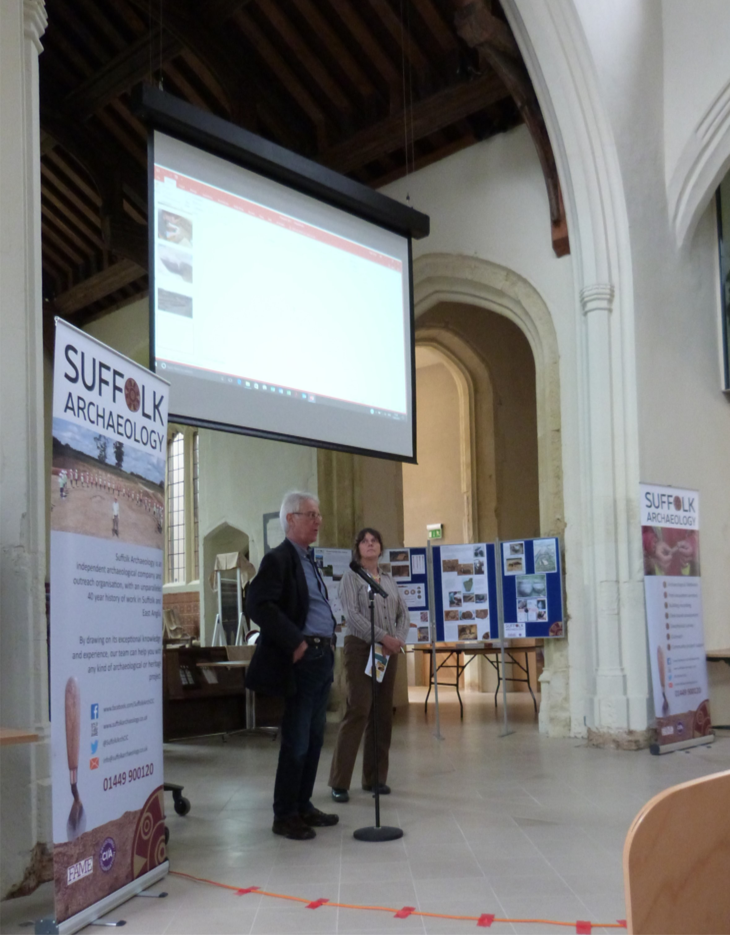 Jo Caruth and Keith Wade, opening the conference