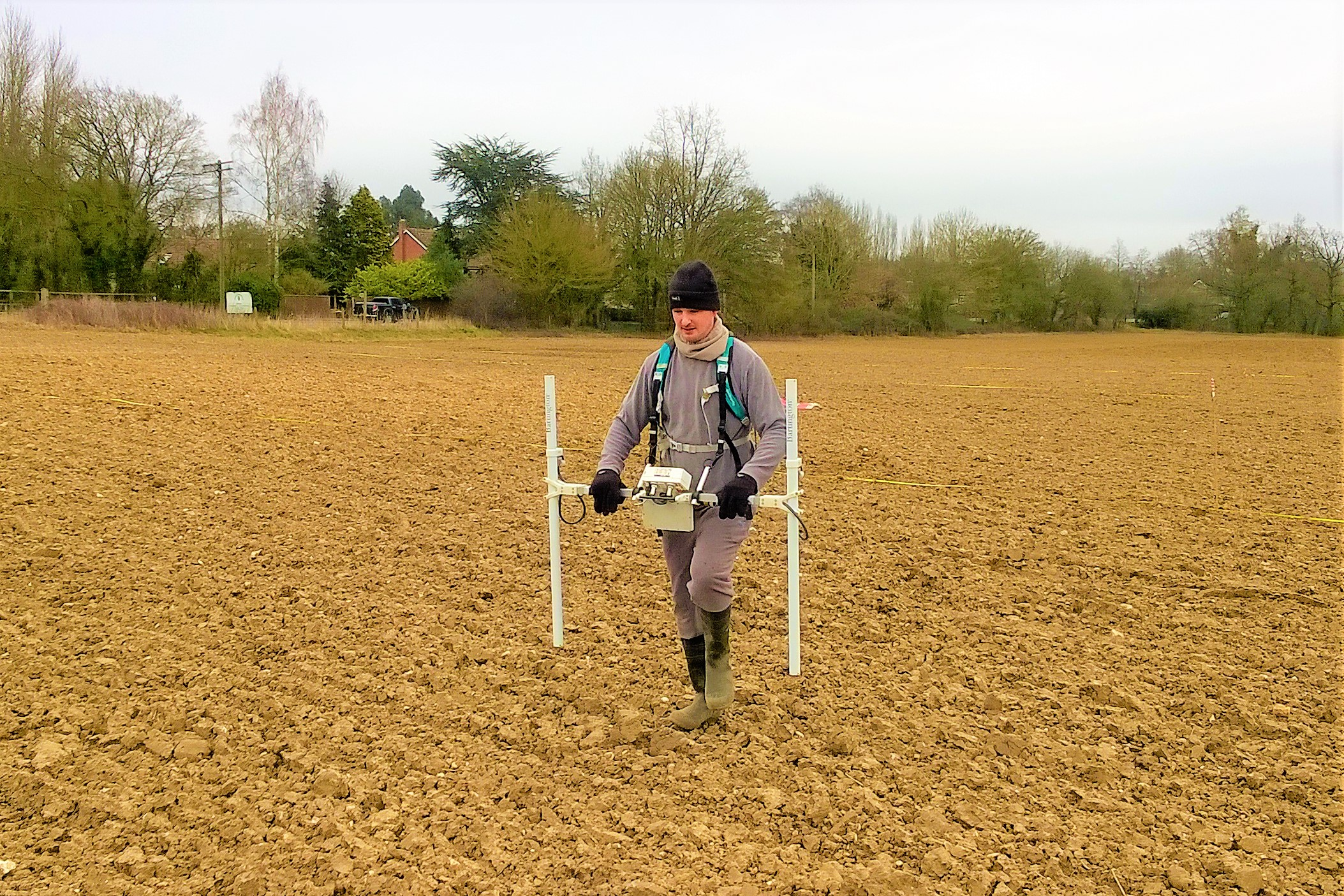 Magnetometer survey in Woolpit, Suffolk