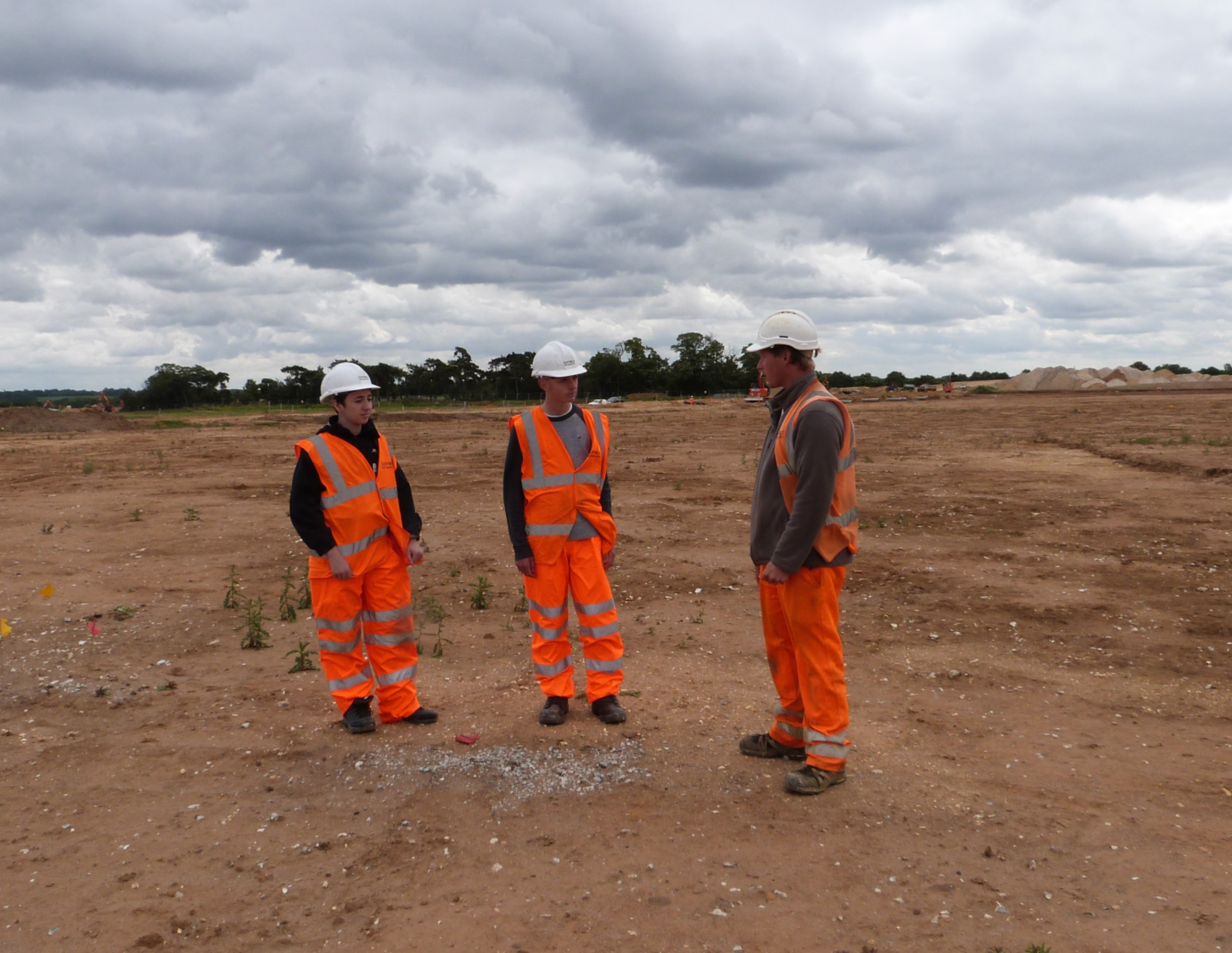 Work experience students on a site visit