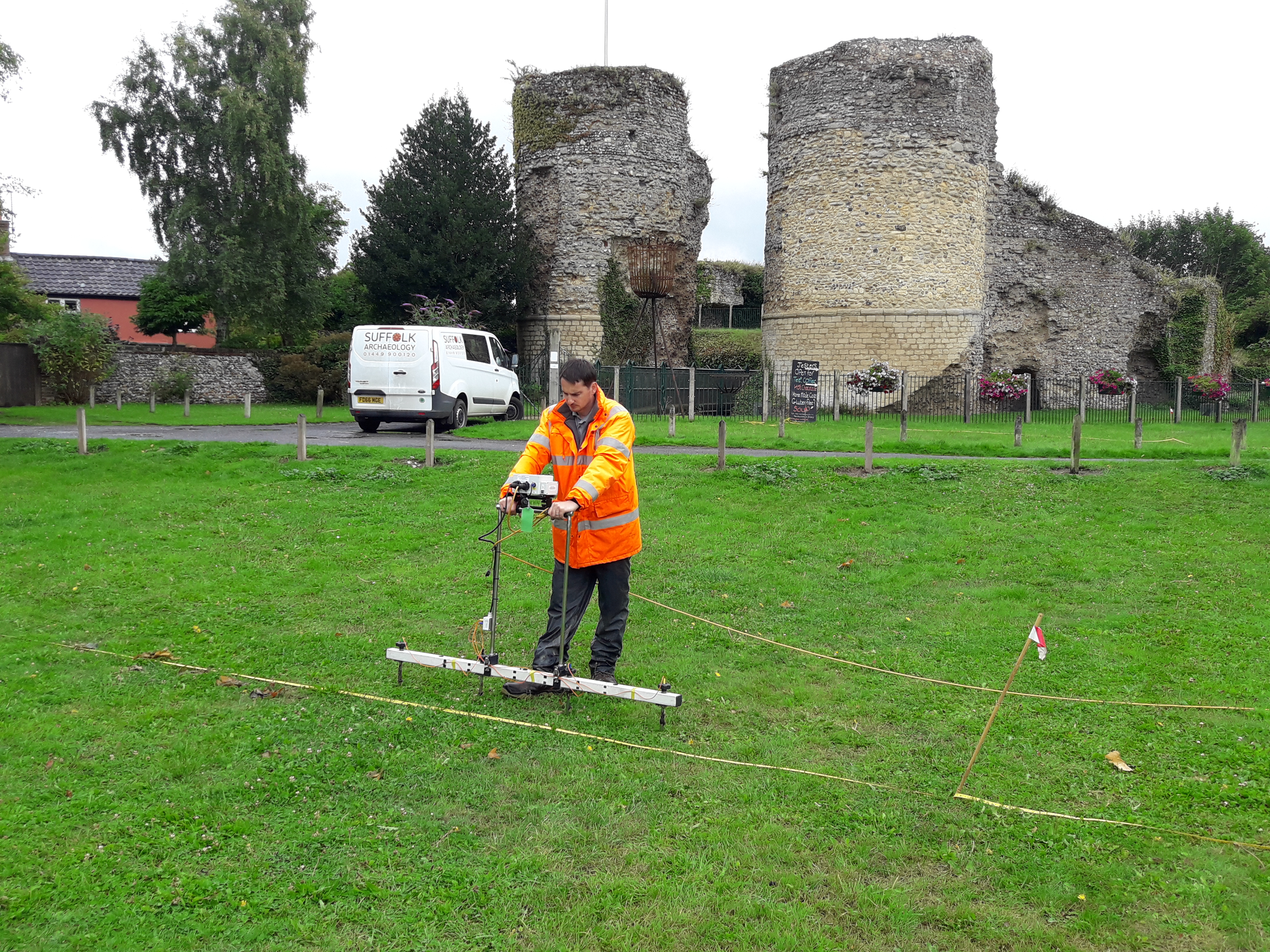 Earth Resistance survey at Bungay Castle