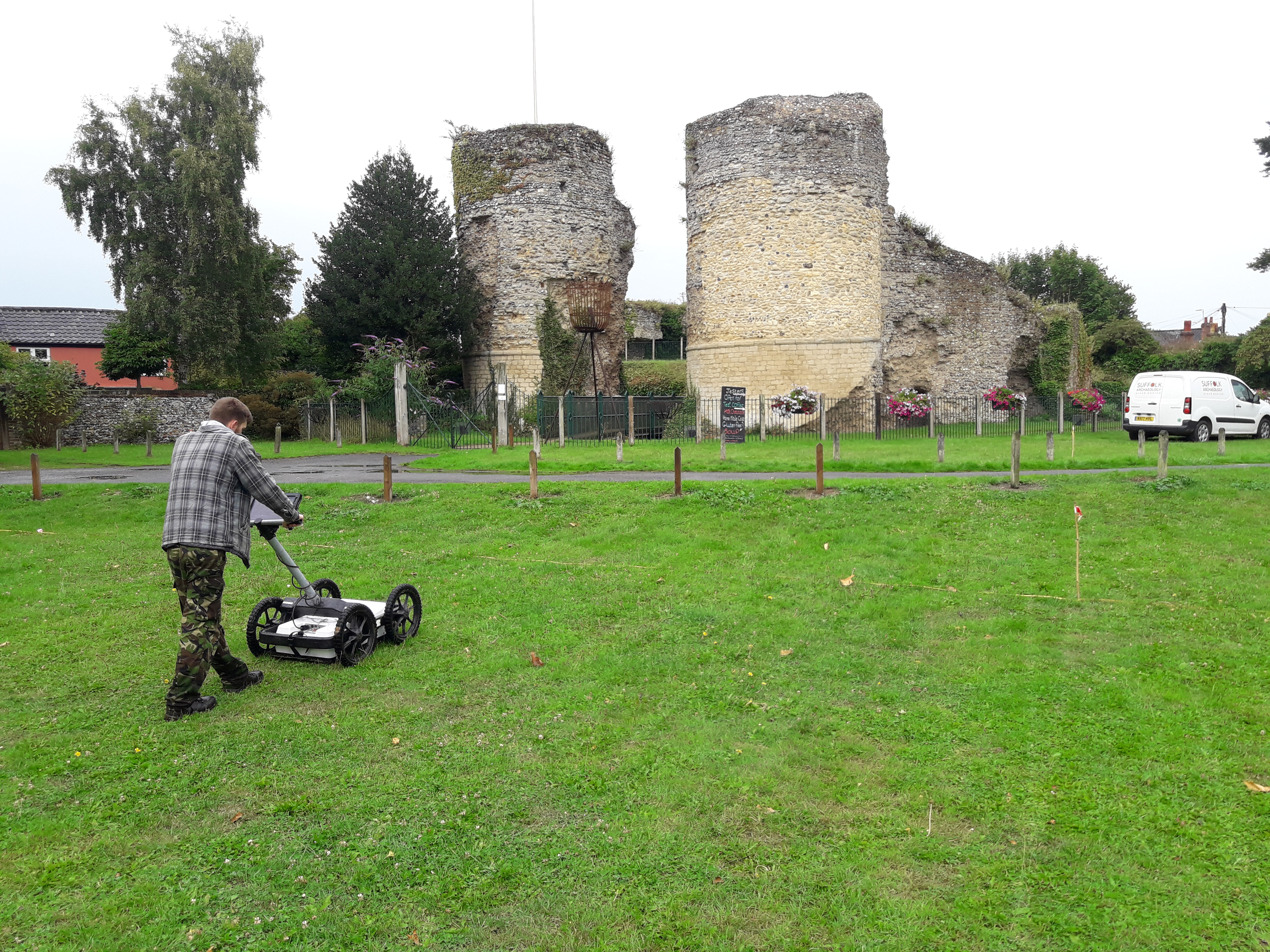 Ground Penetrating Radar survey at Bungay Castle