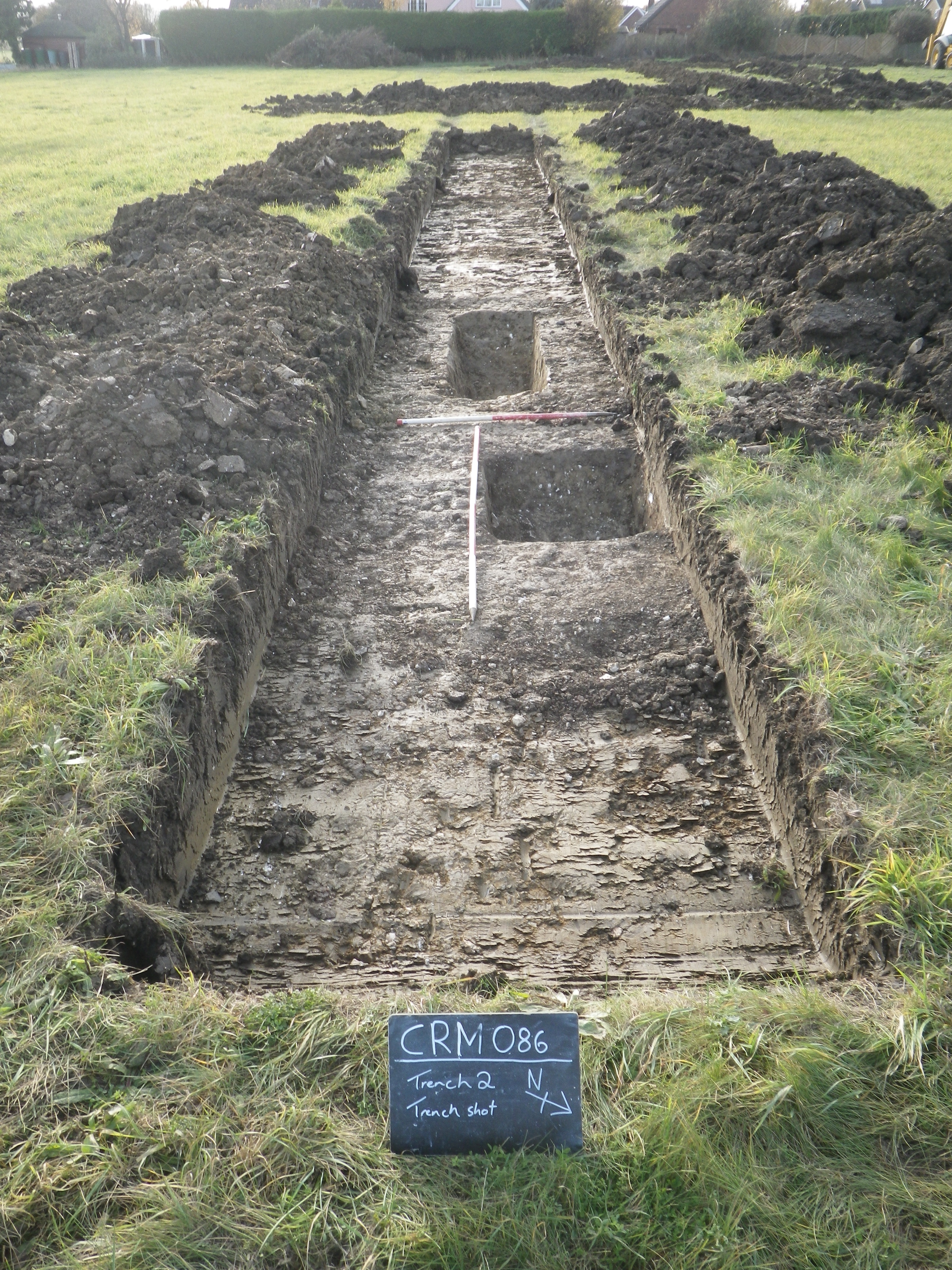 Trial trench at Creeting St Mary