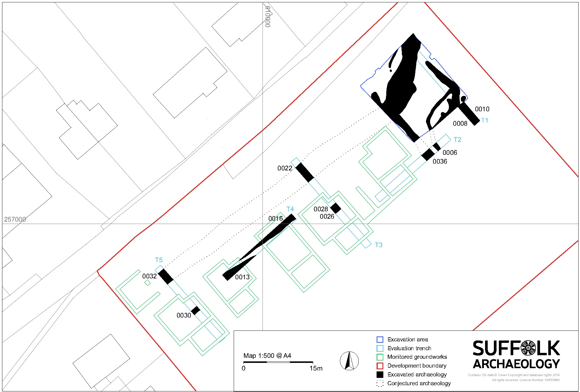 Creeting St Mary site plan